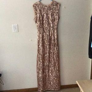 Windsor Pink Sparkle Floor Length Gown